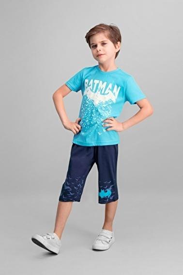 Batman Batman Lisanslı Turkuaz Erkek Çocuk Kapri Takım Mavi